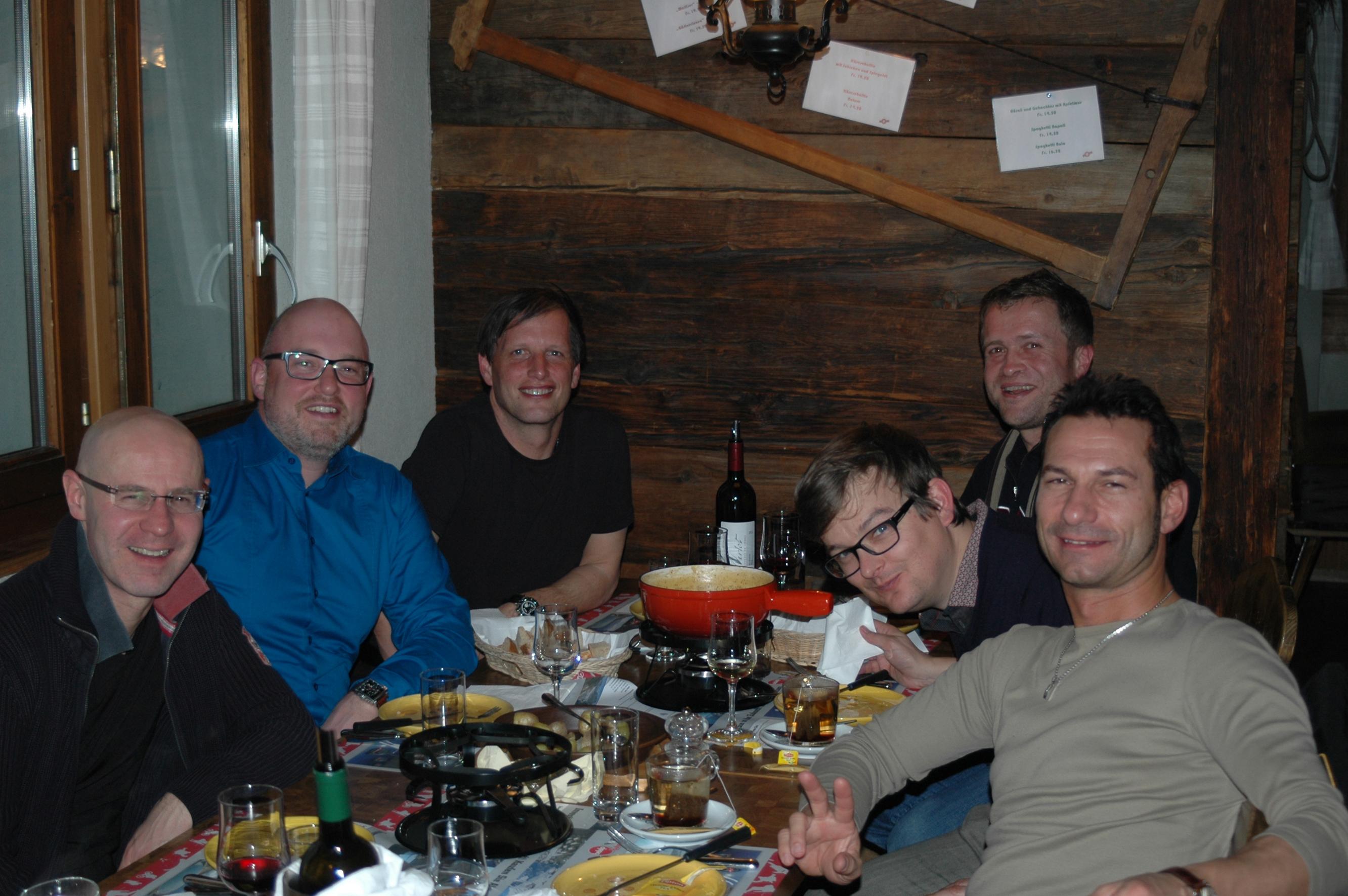 Vorstand SMPA beim gemütlichen Nachtessen
